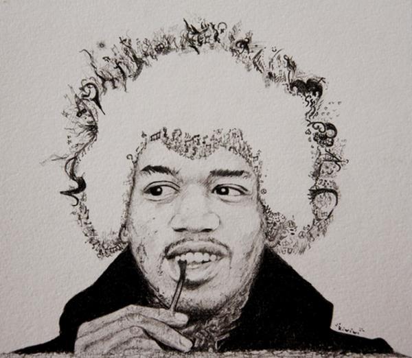 Jimi Hendrix por Hippy